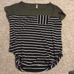 Target striped shirt hunter green